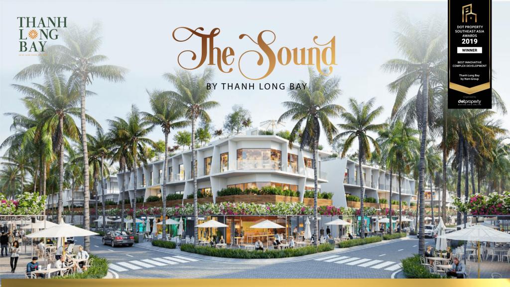 Hình phối cảnh khu phố thương mại The Sound- Thanh Long Bay