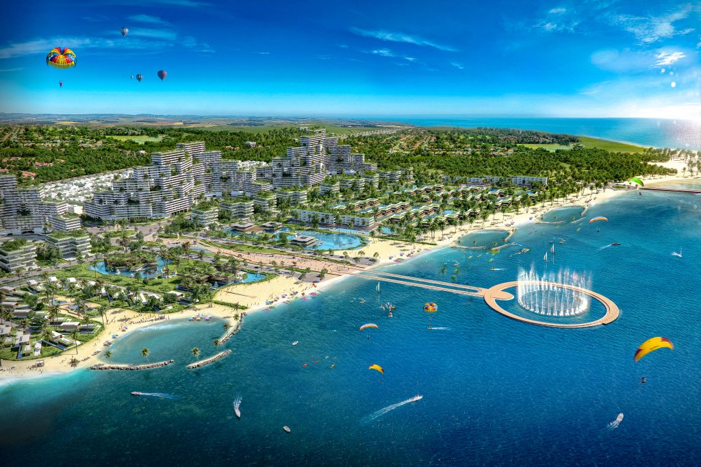 Toàn cảnh Khu nghỉ dưỡng- Thể thao biển quốc tế Thanh Long Bay