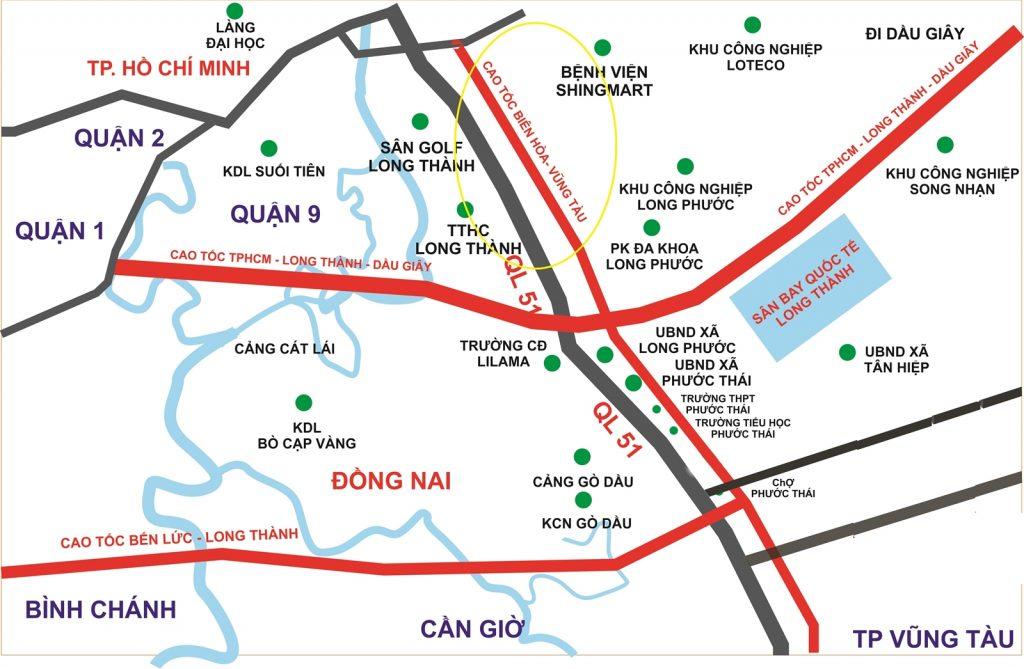 Cao-toc-Bien-Hoa-Vung-Tau se song song voi QL51